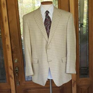 Hart Schaffner Marx  ivory and beige jacket